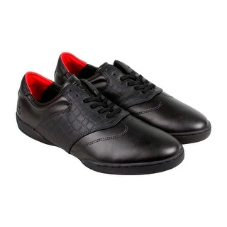 HUF Dylan Mens Black Leather Lace Up Sneakers Shoes