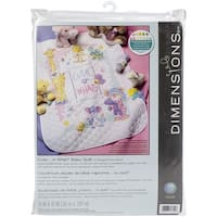 """Baby Hugs Cute...Or What? Quilt Stamped Cross Stitch Kit-34""""X43"""""""