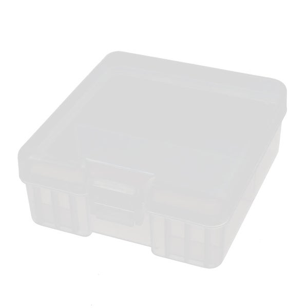 120mmx110mmx50mm Transparent Storage Case Battery Organizer for AAA Batteries