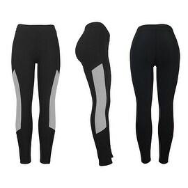 Women's Athletic Fitness Sports Yoga Pants Small-Medium/Black-Grey