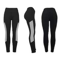 Women's Athletic Fitness Sports Yoga Pants Small-Medium/Black-Grey