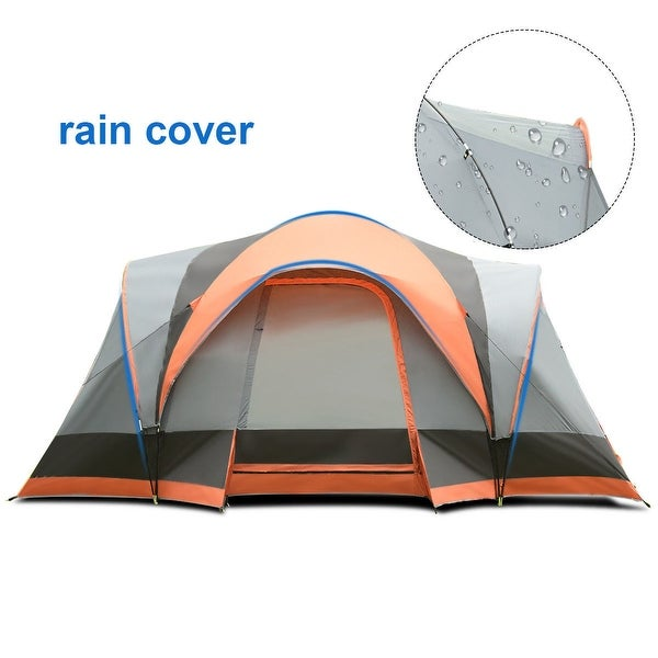 Portable 6 Person Family Tent Easy Set-up Outdoor Camping Hiking Rainproof W//Bag