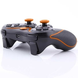 Wireless Bluetooth Game Controller for Sony PS3 Black + Orange Stripe
