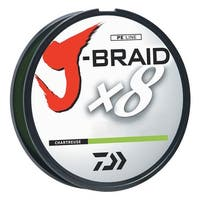 Daiwa J-Braid Chartreuse Fishing Line 330 Yards 40lb Test  JB8U40-300CH