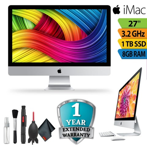 """Apple 27"""" iMac with Retina 5K Display (Late 2015)with 1 Year Extended Warranty"""