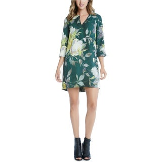 Karen Kane Womens Party Dress Floral Split Neck - XS