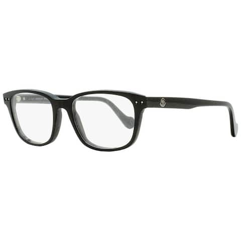 Moncler ML5015 001 Mens Shiny Black 53 mm Eyeglasses - Shiny Black