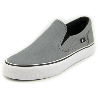 DC Shoes Trase Slip-On TX Men Round Toe Canvas Gray Sneakers