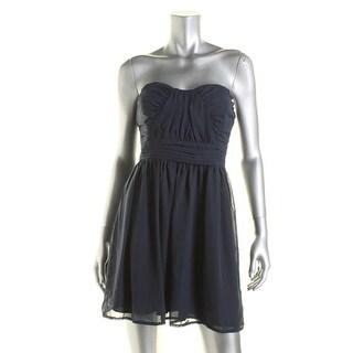 Trixxi Womens Juniors Chiffon Strapless Party Dress