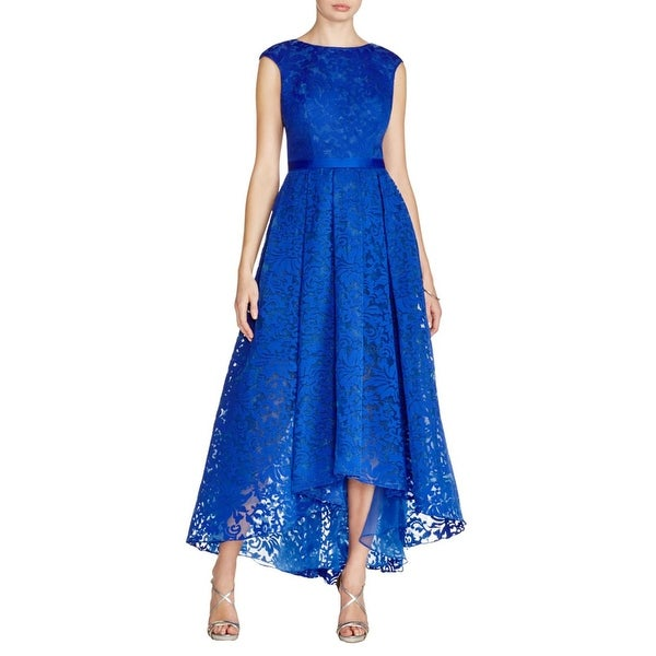 Shop JS Collections Womens Evening Dress Pleated Lace - Free ...