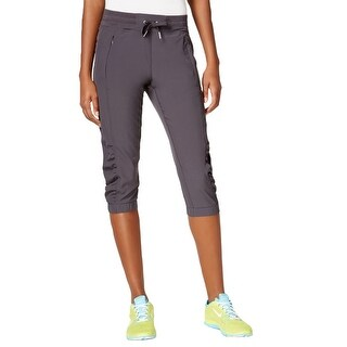 Calvin Klein Performance Womens Capri Pants Quick Dry Ruched