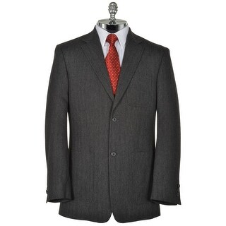 Joseph Abboud Shanghai Deco Titanium Gray Cotton Blend Sportcoat Medium M Blazer