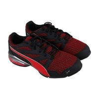 Puma Tazon Modern Two Tone Mens Red Textile Athletic Lace Up Training Shoes