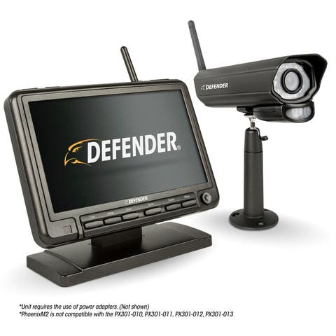 "Defender PHOENIXM2 Digital Wireless 7"" Monitor DVR Security System with Night Vision Camera and SD Card Recording"