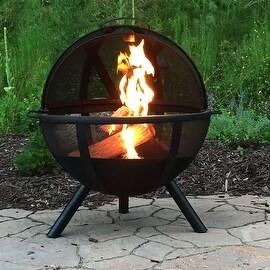 Sunnydaze Flaming Ball Fire Pit, 29 Inch Diameter Sphere