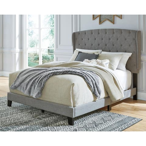 Vintasso Contemporary Upholstered Leather Bed