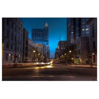 """""""Downtown Raleigh North Carolina at dusk."""" Poster Print"""