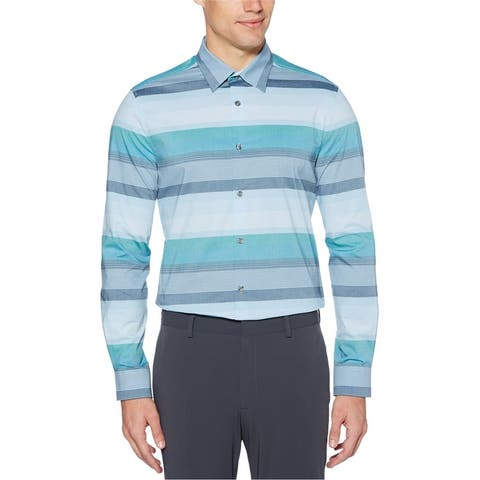 Perry Ellis Mens Multi Stripe Button Up Shirt