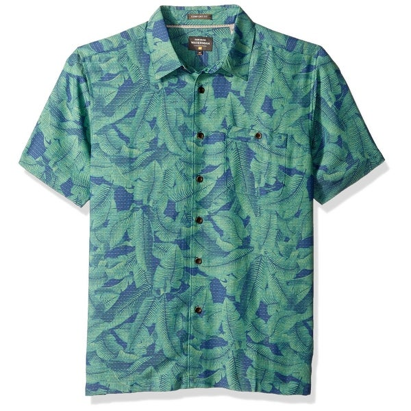 3a3678300e4 Shop Quiksilver Green Mens Size Medium M Comfort Fit Leaf Hawaiian Shirt -  Free Shipping On Orders Over  45 - Overstock - 21428440