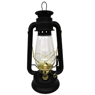 V & O 210-21000 Pathfinder Brass Trim Oil Lantern,12 Oz.