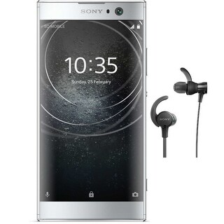 "Sony Xperia XA2 Factory Unlocked Phone (52""screen, Silver) with Headphone Bundle - silver"