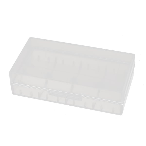 77mmx40mmx20mm Transparent Storage Case Hard Plastic Battery Holder Organizer