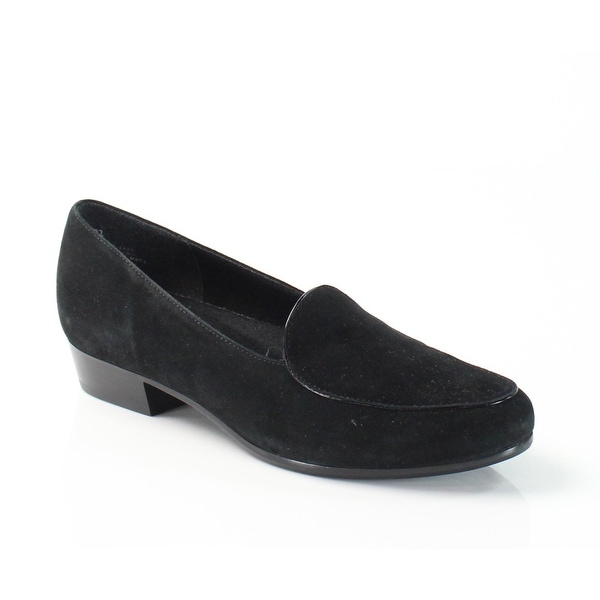 Munro NEW Black Mallory Shoes Size 7.5W Loafers Suede Flats