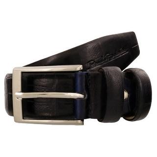 Renato Balestra W226 BLU Navy Blue Leather Mens Belt
