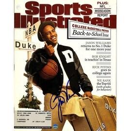 Jay Williams Signed Sports Illustrated Magazine November 19 2001