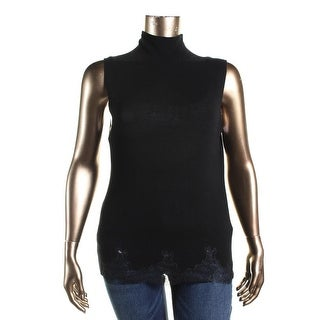 Elie Tahari Womens Imogen Lace-Trim Wool Tank Top Sweater