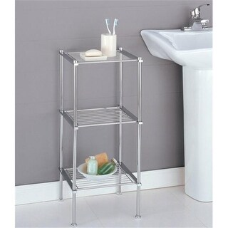 Organize It All 16983 3 Tier Shelf - Chrome