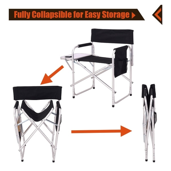 Director/'s Chair Folding Side Table Outdoor Camping Fishing Cup Holder