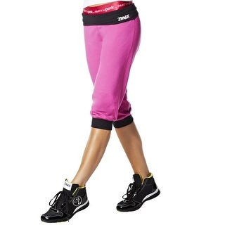 Zumba Women's Fitness Groove For The Cure Logo Stamp Capri Pants A0P00127