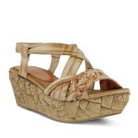 Azura Womens Jaques Leather Open Toe Casual Slingback Sandals - 8.5