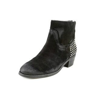 Marc Fisher Zen Women Round Toe Suede Black Ankle Boot