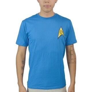 Star Trek Logo Men's Blue T-shirt