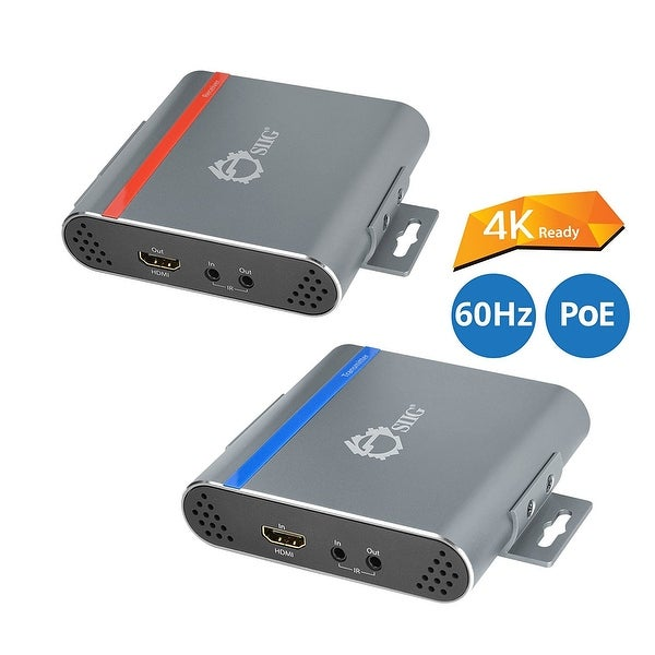 Siig Ce-H22m11-S1 Hdmi 4K Hdbaset Extender Cat5e/6 Cable With Ir Control 70M