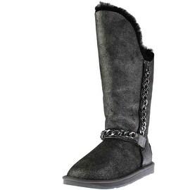 Australia Luxe Womens Maverick Sheepskin Crackled Knee-High Boots
