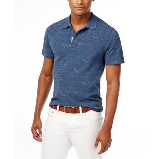 Tommy Hilfiger Mens Casual Shirt Embroidered Signature
