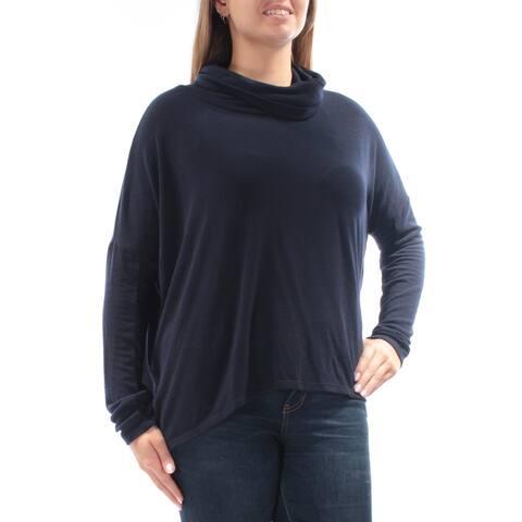 RACHEL ROY Womens Navy 3/4 Sleeve Cowl Neck Top Size L
