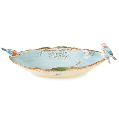 Fitz and Floyd Toulouse 22.5In Centerpiece Bowl