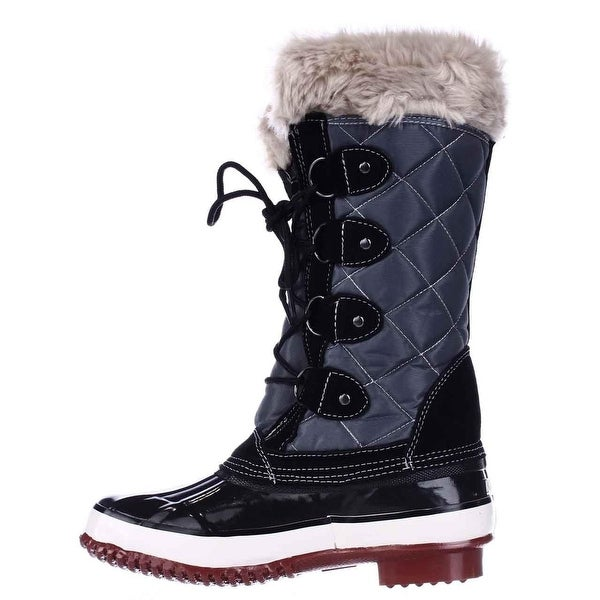 Khombu Womens Melanie Leather Closed Toe Mid-Calf Cold Weather Boots