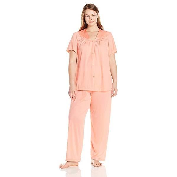 Vanity Fair Women S Plus Size Coloratura Sleepwear Pajama Set 90807 Overstock 19813227