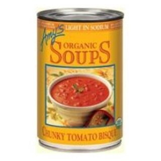 Amys Organic Light In Sodium Chunky Tomato Bisque Soup - 14.5 Ounce