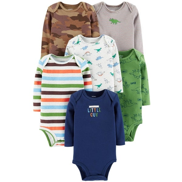 a1777885947e Shop Carter's Baby Boys' 6 Pack Long Sleeve Bodysuits- Dino - Free Shipping  On Orders Over $45 - Overstock - 26506912