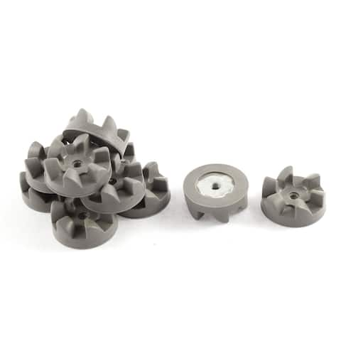 Unique Bargains 10 Pcs 6 Teeth 30mm Dia General Purpose Kitchen Aid Blender Clutch Coupler Gray