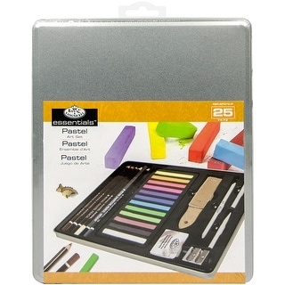 Medium Pastel Art Set W/Tin-