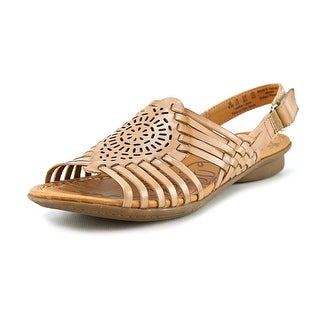 Naturalizer Wendy W Open-Toe Leather Fisherman Sandal