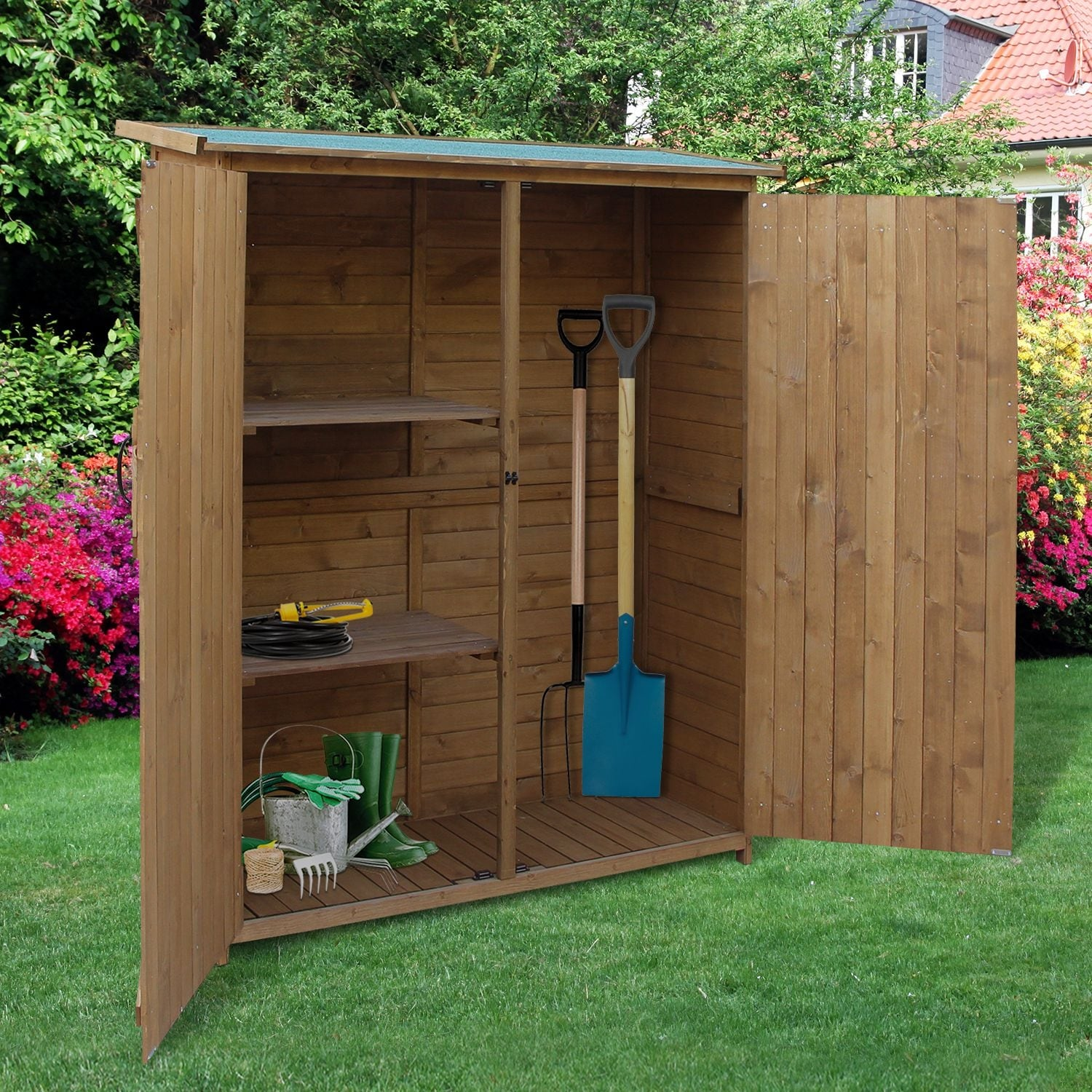 Outsunny Fir Wood Storage Shed