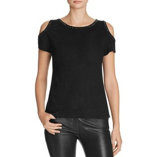 Generation Love Womens Aly Crystal Casual Top Burnout Beaded